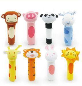 Nouveau Bébé Hochet Jouet BIBI Bar Animal Siffleur Jouets Infantile marionnette Lumières En Peluche Poupée 8 Conception