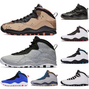 Chaussures de basket-ball pour hommes 10 10s Desert Camo Cement Tinker Je suis de retour Chicago Cool Grey Powder Blue Steel Grey formateurs baskets sport taille 7-13