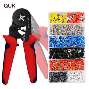 QUK Pince à sertir Mini-Bornes électriques Tube HSC8 6-4a HSC8 de Multitool réglable Pince à sertir Presse outils à main