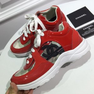 CHANEL  Double C Men Sneakers Cheap Best Top Quality designers Fashion White Leather Platform Shoes Flat Casual Party Wedding Shoes