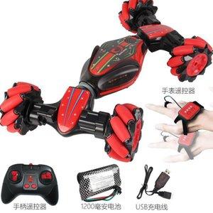 GF Gesto de control remoto de coches de juguete del truco del tirón 4WD 12 forma generalizada, cangrejo Run Salvajemente, Luces de música, la simulación de sonido del coche, regalo del cabrito, 2-1