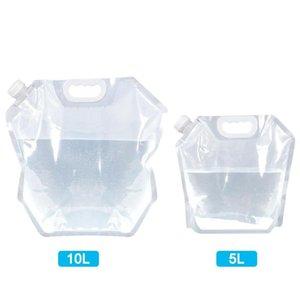 4x PVC transparente dobrável água Storage Container dobrável água Bags