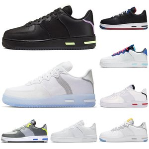 nike air force airforce forces 1 af1 react hommes femmes chaussures de course Light Bone White Black Red outdoor hommes femmes formateurs sports sneakers runners