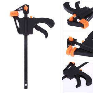 4 pulgadas Quick Ratchet Release Velocidad Squeeze Madera Work Work Bar F Clamp Clip Kit Spreader Gadget Tool Mano DIY carpintería