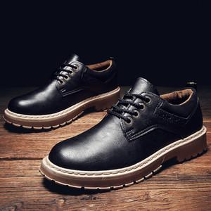 Долгосрочное Поставка флисовой подкладке Дополнительно осень и зима Martin Обувь мужская повседневная Кожаная обувь British-Style Vintage Инструмент Обувь Big Head