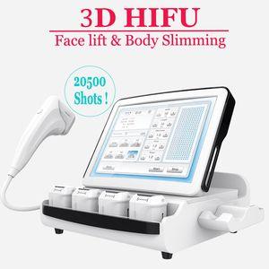 8 Patronen 3D HIFU Face Lift Maschine nicht chirurgische HIFU Falten entfernen Hautstraffung Ultraschall Skin Resurfacing Anti-Aging-Maschine
