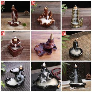 السيراميك الصقيل مبخرة البوذية الجزر الروائح مبخرة ارتجاعي الإبداعية شكل العطر مصابيح العصي حامل العديد من الأساليب 8cy ZZ
