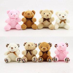 Giocattoli per i bambini degli animali farciti Cute Teddy Bear 8 cm popobe bella borsa di Plush Keychain Car all'ingrosso 30 pc