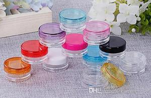 Bocaux clairs 5G / 5ML avec couvercles colorés pour petits bijoux, peintures de maintien / mélange, accessoires pour cigarettes Art / vape e et autres objets d'artisanat
