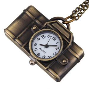 Ожерелья подвески мультфильм камера свитер цепи часы кулон ожерелье корейский стиль де цепи кулон ожерелье