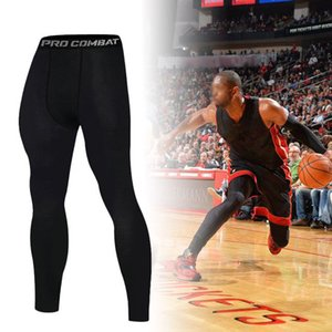 Compression Men basketball tights elastic sports running gym pants bodybuilding joggers skinny leggings Full Length Pants
