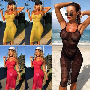여성의 레이스 섹시한 여름 크로 셰 뜨개질 수영복 비키니 디자이너 여성의 비키니 패션 수영복 2019 커버 비치 드레스 컷 아웃 드레스
