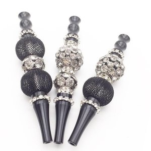 Black Handmade Inlaid Jewelry Alloy Hookah Mouth Tips Shisha Chicha Filter Tip Hookah Mouthpiece Mouth Tips