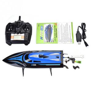RC navires à distance de contrôle 4 canaux Bateau Racing Speedboat Modèle Toy Ship LCD batterie d'alimentation jouets pour les enfants Enfants