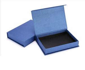 Boîte à bijoux cadeau bleu Kraft Emballage Bracelet Collier Anneau d'oreille clou boîte fête de Noël anniversaire sac cadeau bricolage affichage Emballage
