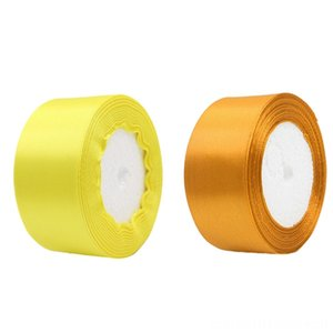 2 Roll 40Mm 22 Meters Silk Satin Scarves & Wraps Hats, Scarves & Gloves Ribbon for Wedding Party Yellow Golden