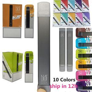 Os mais recentes dispositivos Bidi vara descartáveis canetas Pod portátil Kit pré-cheia Cartuchos Vape Pen Vapor 1,4 ml 280mAh bateria vazia descartável E-cigarro