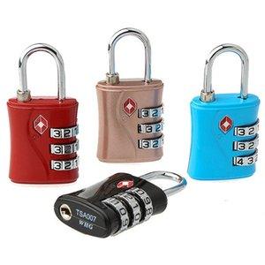 Reajustável Viagem Bagagem Cadeado 11 estilos TSA Alfândega Locks 4 dígitos combinação fechadura da mala de viagem Alta Segurança Locks BH2403 TQQ