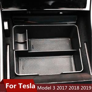 Tesla Model 3 BlueStar 2017 2018 2019 Aksesuar Araç Merkez Kolçak Saklama Kutusu Oto Konteyner Eldiven Organizatör Kılıf için