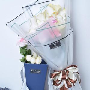 10PCS 무광택 용지 시리즈 꽃 포장 매트 반투명 셀로판 종이 재료 꽃 꽃다발 장식 랩 포장