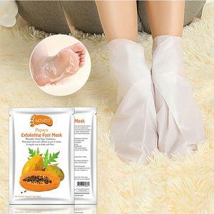 New ALIVER Feet Exfoliating Foot Mask Magic Dead Skin Peeling Feet Mask Sock Avocado Papaya Olive Oil Exfoliating Foot Mask Feet Skin Care