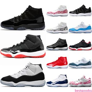 Top 11 Pin Navy Snakeskin 11s Concord 45 Men Women Basketball Shoes Bred Space Jam Gamma Blue Mens Athletic Sport Sneakers Wholesale