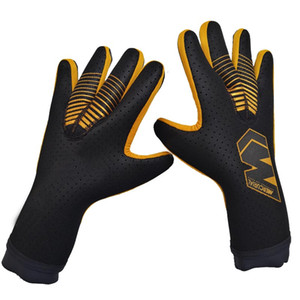 TOP quality All latex goalkeeper gloves without Finger save Protection soccer football Goalie Gloves Kids Adults size 8 9 10