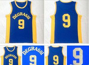 Uniforme Degrassi Community 9 Jimmy Brooks Jersey degli uomini di alta scuola di colore della squadra Blu ha cucito Brooks Moive Basketball Maglie