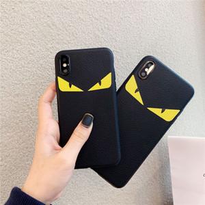 50PCS cuir yeux Diable Housse pour XR iphone 11 X XS Pro MAX 7 8 6 6S Mode Plus cas de téléphone de tendance de luxe
