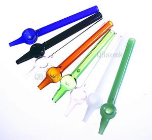 QBsomk B0001 Néctar Coletor de Mel De Palha De Vidro De Fumar Tubulação de água acessórios para tubos de tubulação de vidro dab rig oil rig