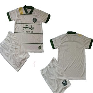NEW 2020 2021 MLS Portland Timbers home kids soccer jerseys 20 21 white BLANCO CHARA VALENTIN VALERI adult Football jersey Shirts shorts