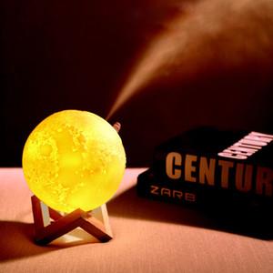 880ML 3D Luna Led Light umidificatore Aromatherapy macchina USB umidificatore Night Three-color nebbia purificatore decorazione domestica XD23177