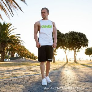2020 New men's fitness sports vest sling muscle bodybuilding cotton sleeveless vest men t shirt