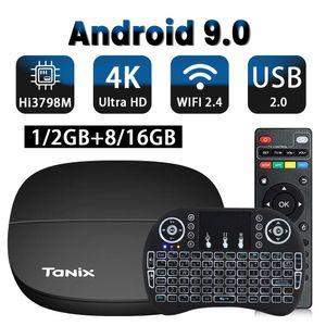 TV BOX Android 9.0 2G ROM 2.4G Hi3798M 4K H.265 WIFI receiver Performance CPU Box