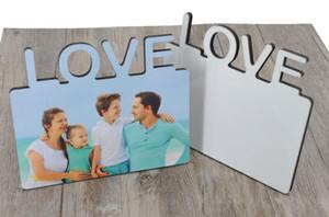10 PC / porción de sublimación en blanco marcos de fotos de madera DIY encanta la foto del MDF marco del estampado de regalo de la pintura sin marco paneles decorativos