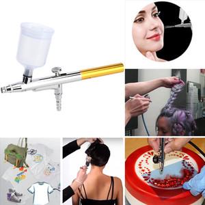 20mm / 40mm Büyük Kapasiteli Fincan Tek, Çift Eylem Airbrush Mini Püskürtme Tabancası Kompresör Seti Nail Art Makyaj Için Dövme Kek