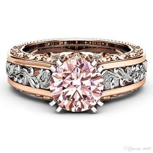 Nfn97 USpecial 2019 новая мода 18K розовое золото цвет кольцо тренд цвет камень топаз шампанское цвет кольцо оптом