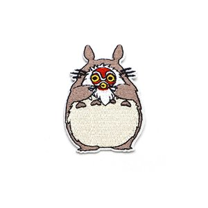 2pcs / lot Cartoon Totoro Ecussons Brodé style Patch pour Miyazaki Fer vêtements Accessoires Patch Creative DIY Sac Patch C95