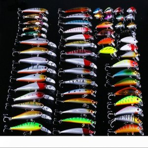 Всемогущий Mixed рыболовной приманки Красочных Пластиковые Minnow рыбалки снасть с Treble Hook Песок Фиктивной Приманкой Горячих продажами 108rx UU