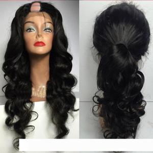 perruque 1 * 4 Apertura Medio U Loose Women Part parrucca per Black Wave Virgin brasiliano upart Hai umana