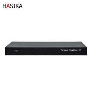 6-канальный видеостен контроллер 2x3 3x2 HDMI DVI VGA USB видеопроцессор с управлением RS232 для 6 TV сращивания