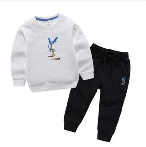 2020 الماركات مصمم الطفل ربيع الخريف ملابس أطفال مجموعات بوي فتاة الأعلى سروال 2 قطعة بذلات رياضية تتسابق 1-8 سنوات زي صب منظمة أطفال