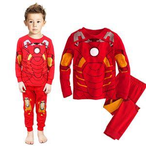 Çocuklar Boys Superhero Pijama Bebek Pijama Giyim Bebek Çocuk Robe Çocuklar Yeni Yıl Pijamas İçin Boy Noel Pijama Takımları