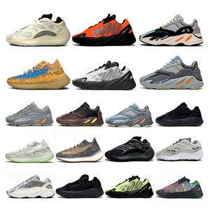 ayakkabı 2020 New Kanye West Stockx 700 Boost Running Shoes Azael Alvah Alien Mist Wave Runner 700 v2 Carbon Blue Vanta Luxury Designer Sneakers Trainers