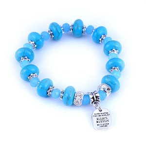Ethnique Bracelets Femmes Turquoise Pierre naturelle Brins de perles Bangle tendance mode Vintage Charm Antique Perles Bijoux Cadeaux Lady Filles
