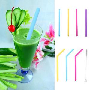 Reusable Silicone Environmental Protection Color Straws for Baby Drinkware Safe and Non-Toxic Environmental Protection