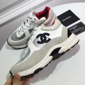 chanel Beste Herrenschuhe Freizeitschuhe Mode Trend der Frauen-echtes Leder-Sneaker Volltonfarben-Kleid-Schuhe mit Kastengröße 35-45 q3