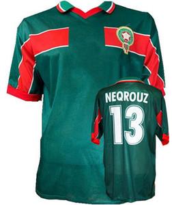 Ретро классика 1998 Марокко футбольные майки Хаджи УАКИЛИ Некруз Бассир 98 ретро футбольная рубашка