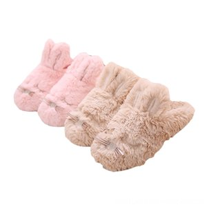 Winter Women Home Slippers Fashion Warm Shoes Woman Flats Plush Backpacks Stuffed Animals & Plush Female House Slippers with Long-haired Rab