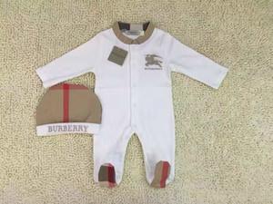 2pcs Set caballo recién nacidos monos rejilla bebé Romper clásicos bordado niños pequeños niños Mono / Romper ropa Envío libre